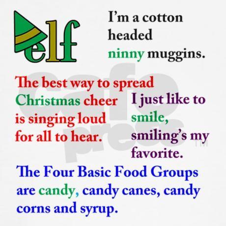 Elf Quotes Kids Baseball T Shirt Elf Quotes Kids Baseball Jersey By Kinnikinnick Arts Cafepress Elf Movie Quotes Elf Quotes Movie Quotes