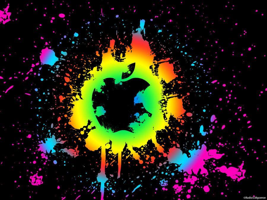 Paint Splatter Wallpaper Mac By Radio538goeroe On Deviantart Apple Wallpaper Iphone Apple Logo Wallpaper Apple Wallpaper