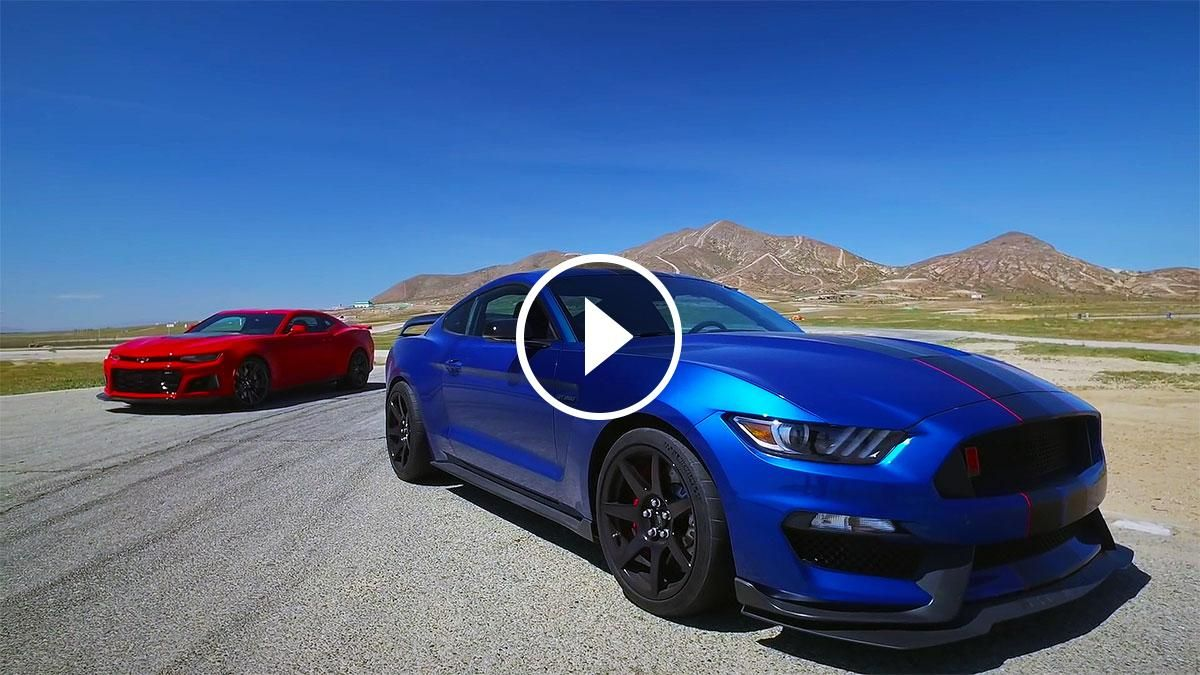 2017 Ford Mustang Shelby Gt350r Vs 2017 Chevy Camaro Zl1 Cool