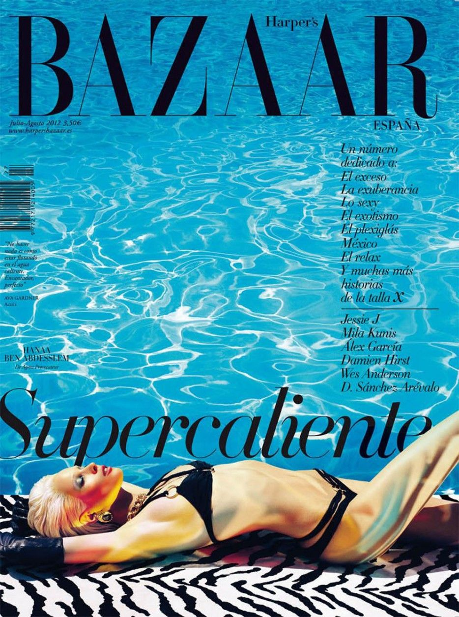 Hanaa Ben Abdesslem for Harper's Bazaar Spain July August 2012