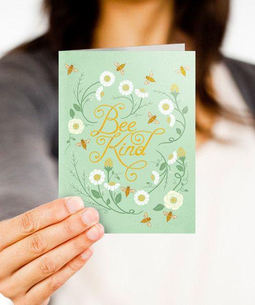 Bee Kind notecards