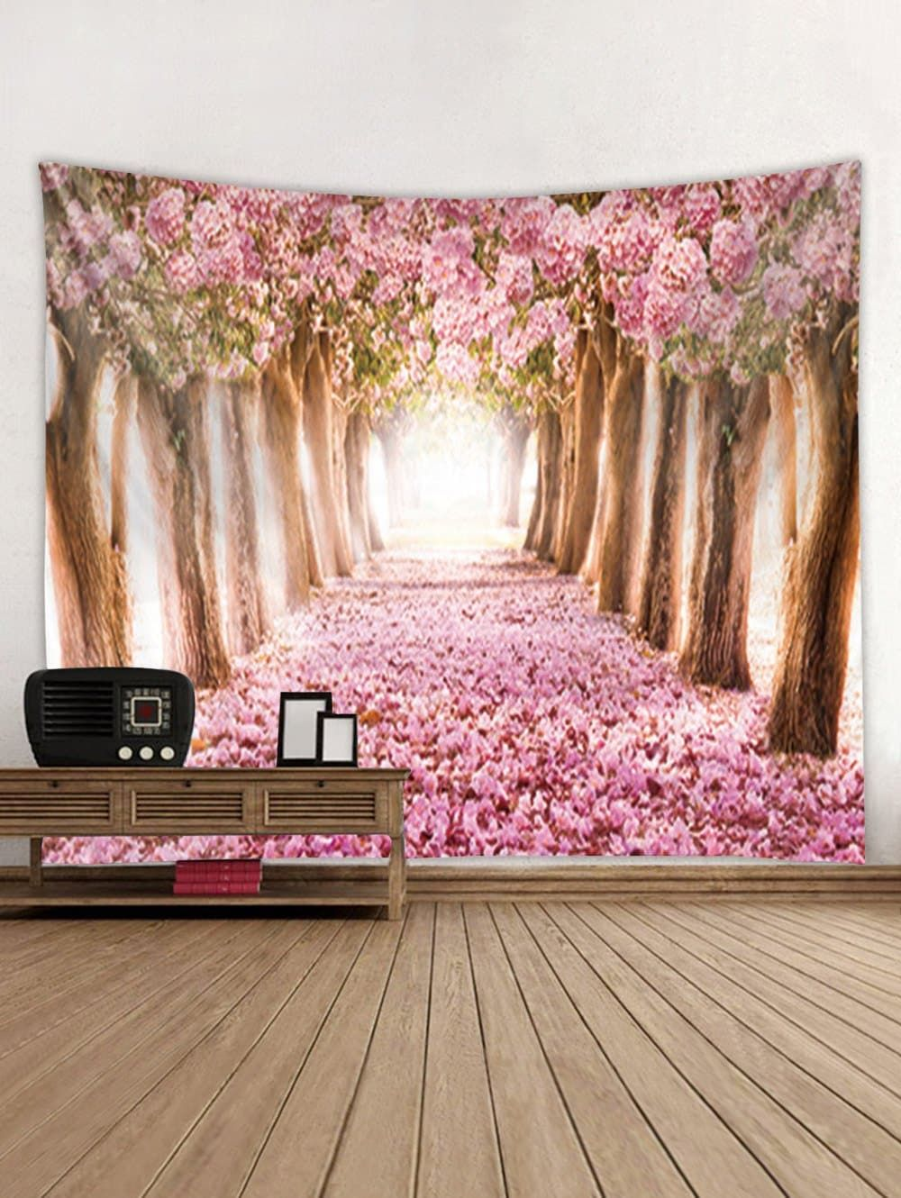 bbe2879abc DressLily.com  Photo Gallery - Flower Trees Avenue Print Tapestry Wall  Hanging Decoration