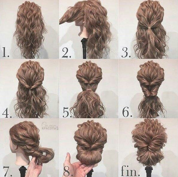 Easy Updo Curly Hair Styles Easy Curly Hair Updo Curly Hair Styles