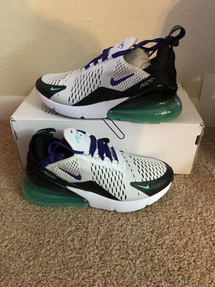 b05c4647f6370 Women's Nike Air Max 270 White Menta Black Court Purple Size 6.5 ...