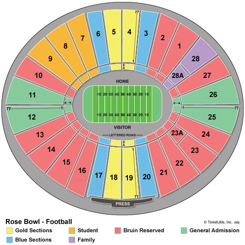 Rose Bowl Seating Chart Fsu V Oregon Go Noles Rose Bowl Rose Bowl Stadium Liverpool Vs Chelsea