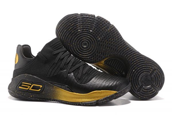 wholesale dealer 3ab38 a7f92 Under Armour Curry 4 Low Black Gold For Sale