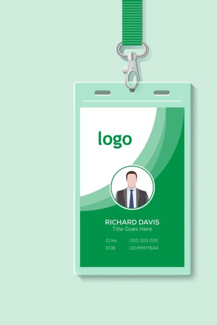 Employee id card template id card template employee id