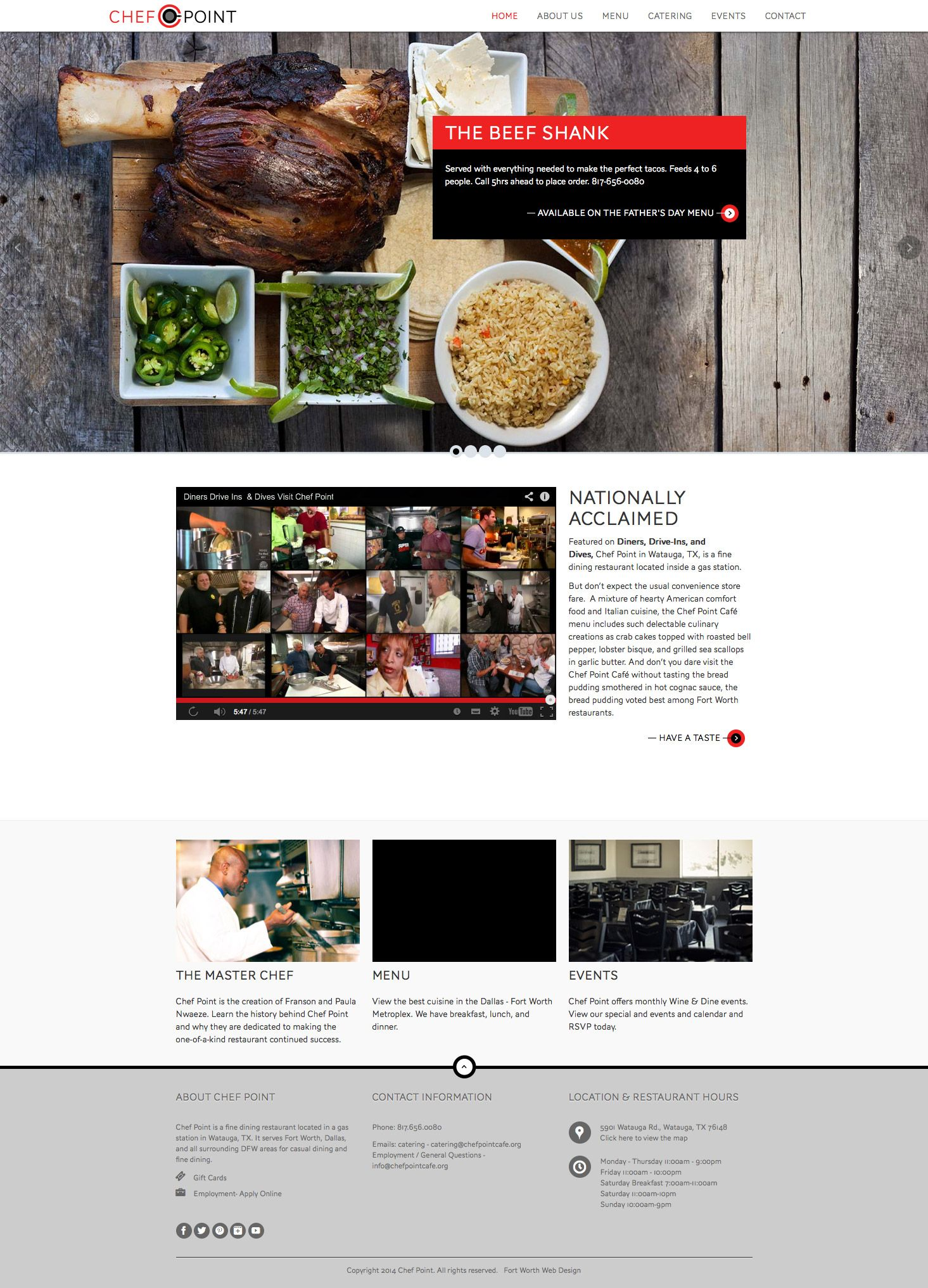 Five Star Web Design For A Gourmet Food Experience With Chef Point Food Experiences Gourmet Recipes Event Catering
