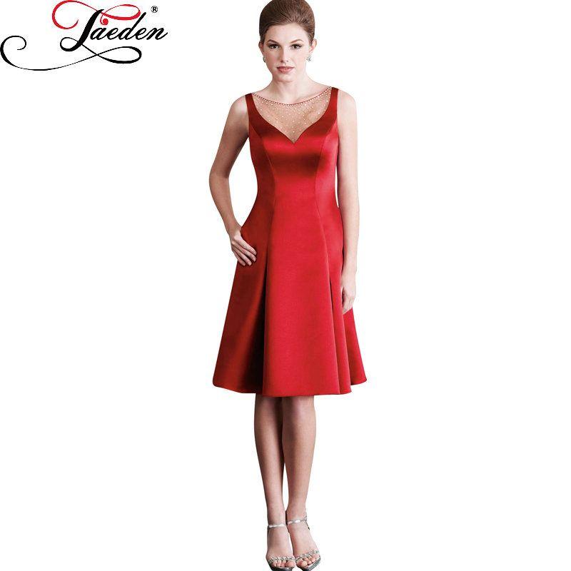 350ab71e839 JAEDEN Sleeveless Sheer Front upper Bodice Drape Skirt Short Party Dresses  2017 E410 Beaded Scoop Neckline Cocktail Dresses