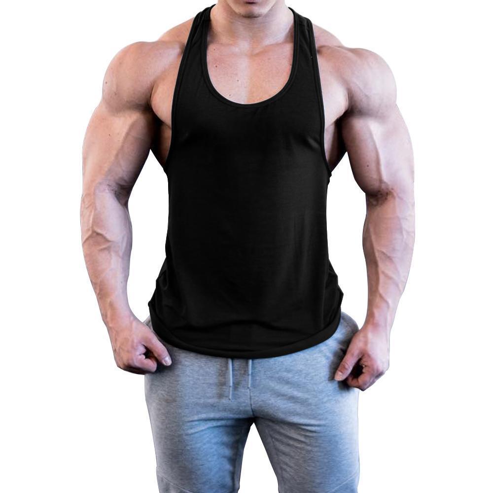 782f06183c OA Men Solid Color Bodybuilding Stringer Gyms Tank Top Fitness Singlet  Cottonheavengifs