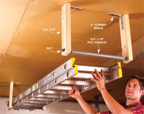 Garage Storage, How To Hang Things From Garage Ceiling