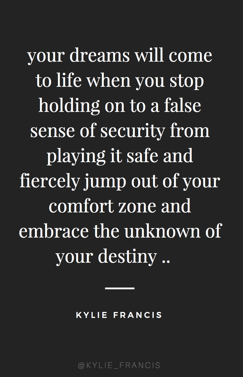 Your Dreams Will Come To Life When You Stop Holding On To A False