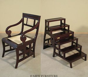 Library Chair That Converts To A Stepladder In One Move. Invented By Ben  Franklin,