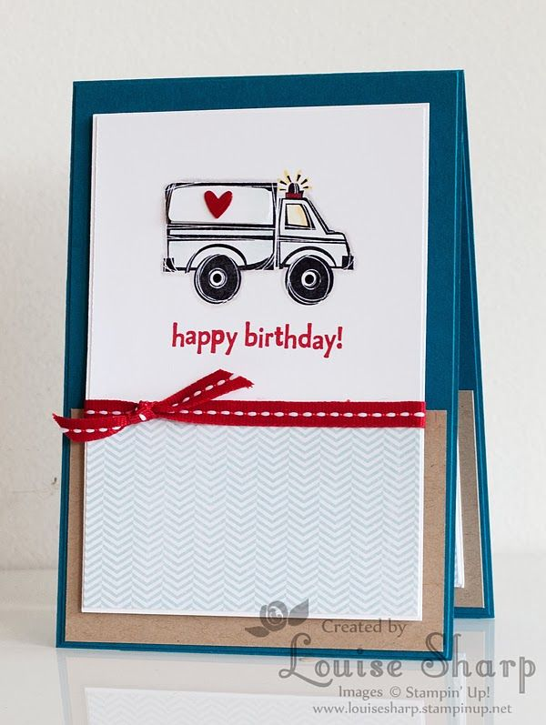 Just Add Ink 201. Stampin Up You're My Hero Stamp Set. By Louise Sharp