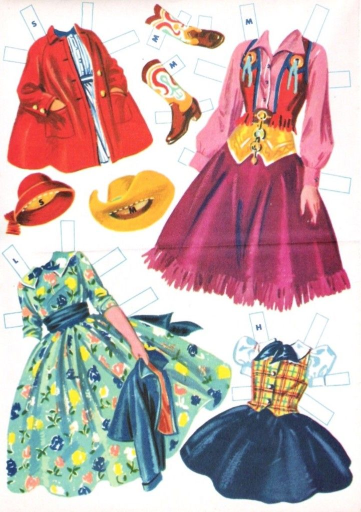 Paper Dolls~Ranch Family
