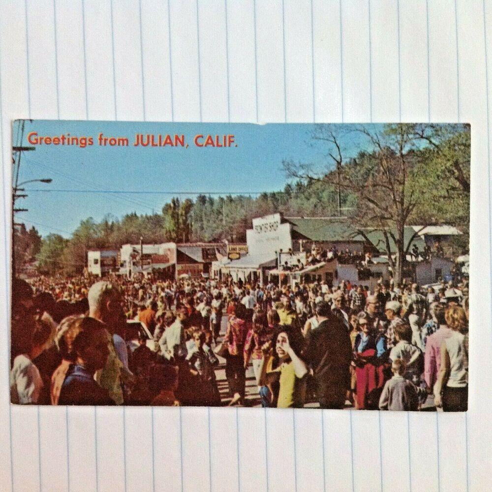 Postcard Julian California Apple Days Photo Robert Eames Frontier Shop Postcard Vintage Advertisements Photo