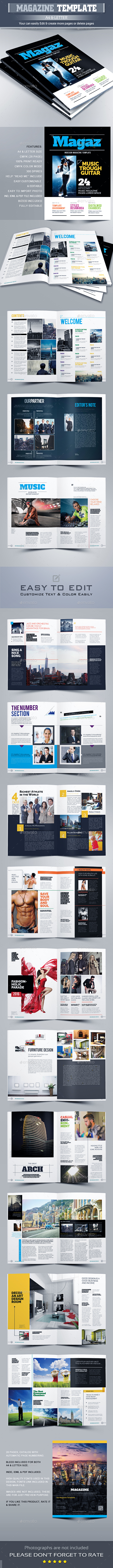 Minimal MagazineTemplate — InDesign INDD #advert #magazine classified ad • Available here → https://graphicriver.net/item/minimal-magazinetemplate-/13812492?ref=pxcr