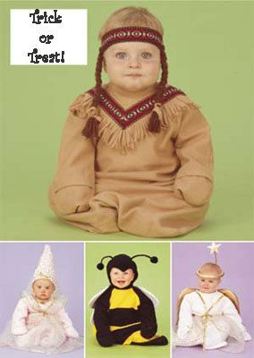 adorable easy baby halloween costume pattern bumble bee indian princess angel - Baby Halloween Costume Patterns