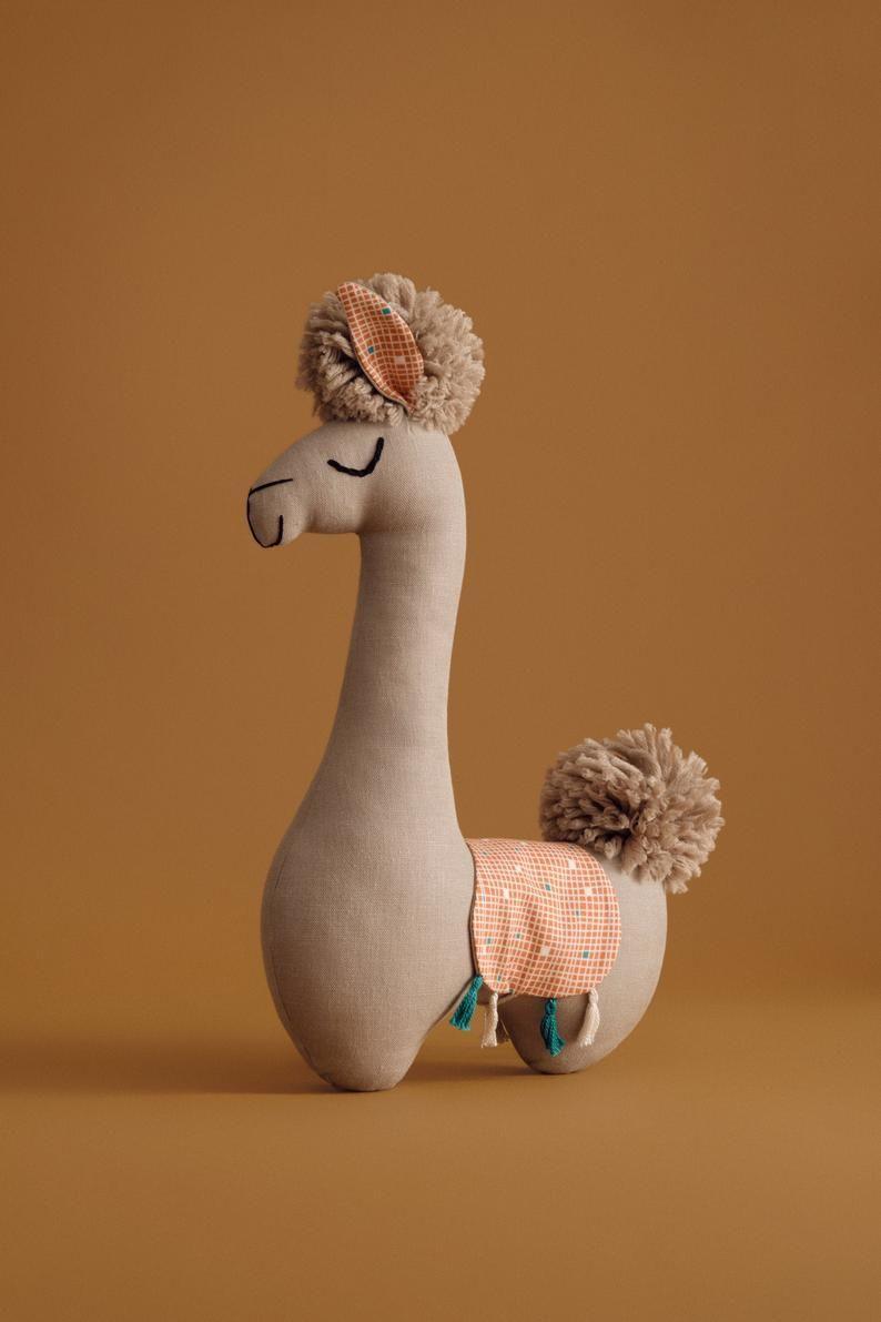 Delight Llama Stuffed Animal Toy for Zoo Nursery animal