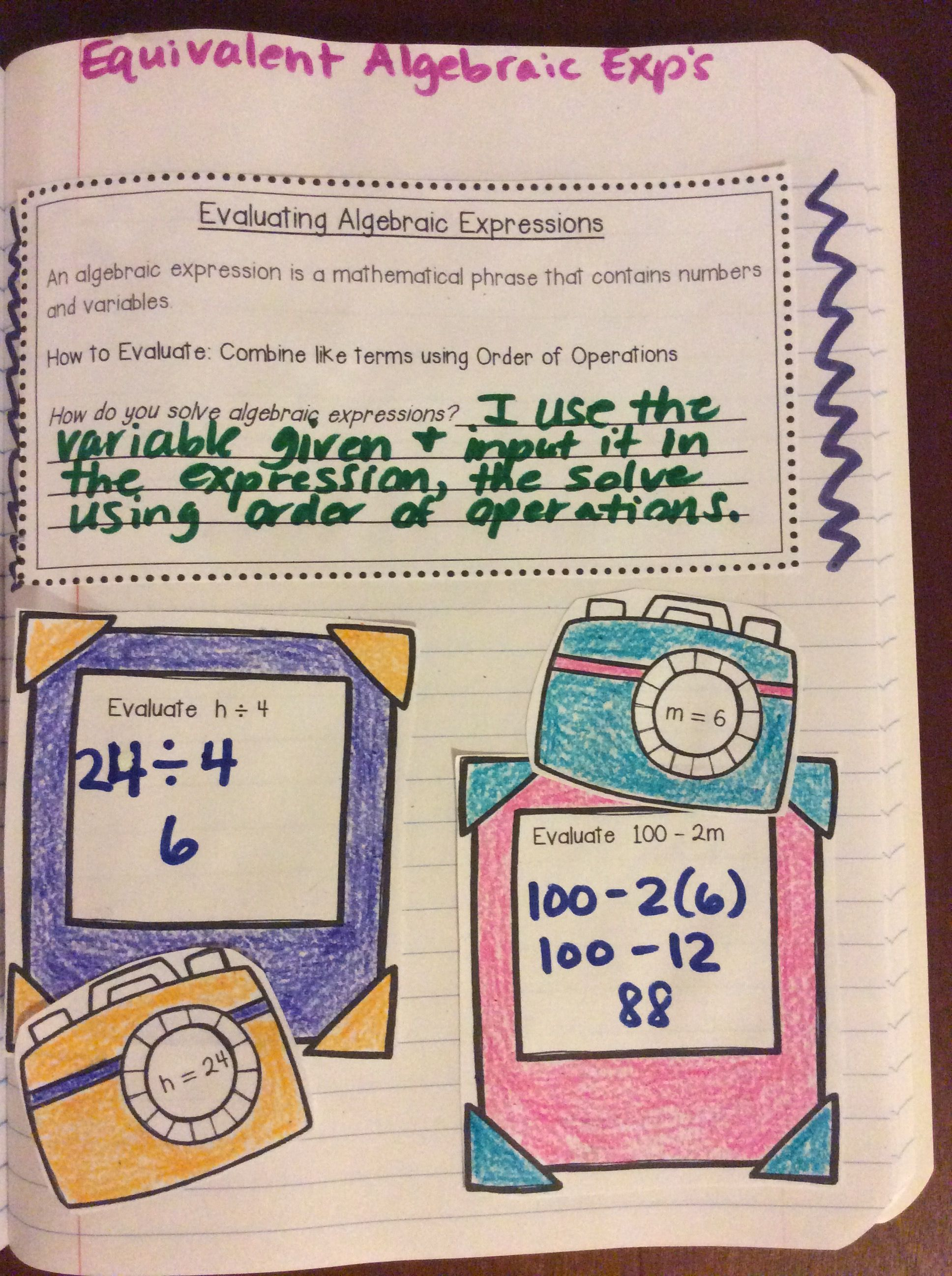 No Prep Print Amp Go Interactive Math Notebook For Grade 6