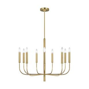 Langley Street Emmett 6 Light Candle Style Classic Traditional Chandelier Wayfair In 2020 Modern Lighting Chandeliers Candle Styling Candlestick Chandelier