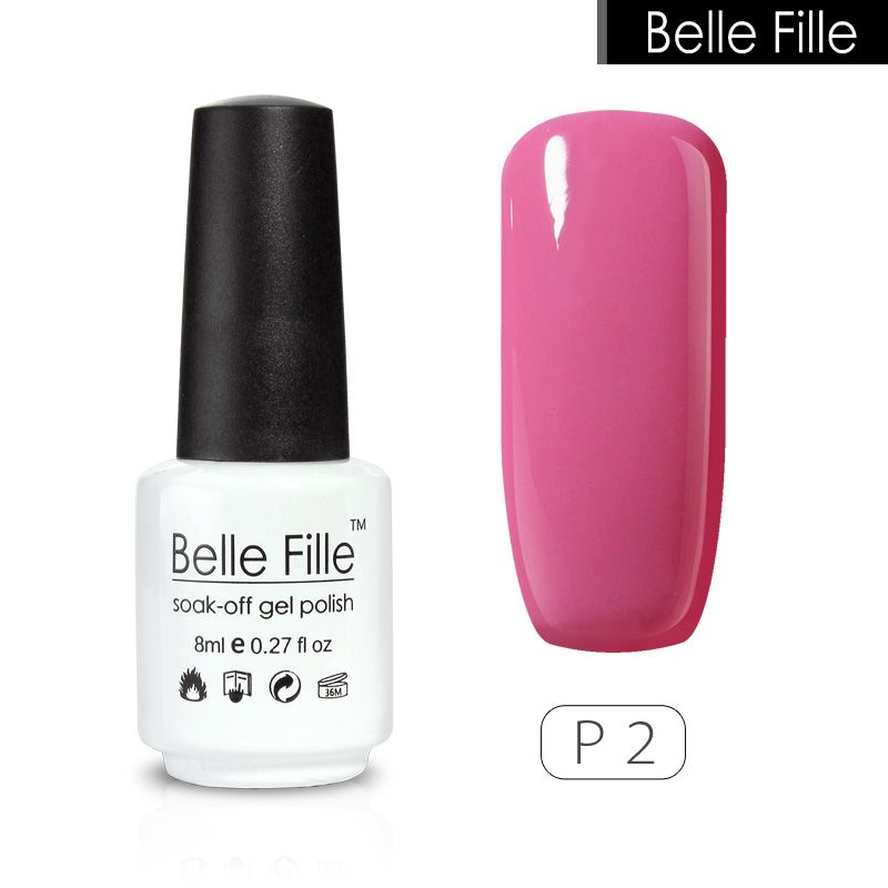 BELLE FILLE UV Nail Gel Polish Pink Nude color Gel Nail Polish for ...