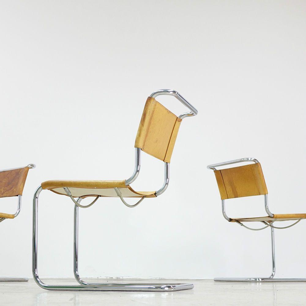 THONET | Marcel Breuer B33 Chair Stahlrohr Stuhl | Bauhaus Freischwinger |  1Stk