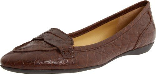 Nine West Womens Tailynn LoaferDark Brown Croc75 M US * Read more at the image link.