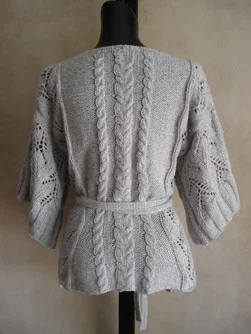 69 Cables and Lace Kimono Wrap Cardigan PDF Knitting Pattern ...