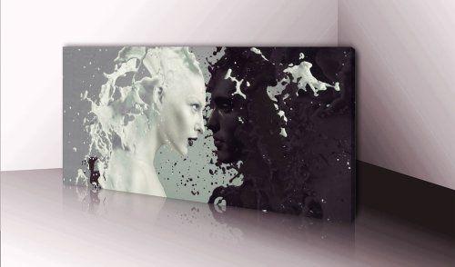 xxl wandbild leinwand nr 255 milk and coffee 100x40cm wanddekoration online kaufen bei woonio abstrakt kunstdruck photos auf bedrucken