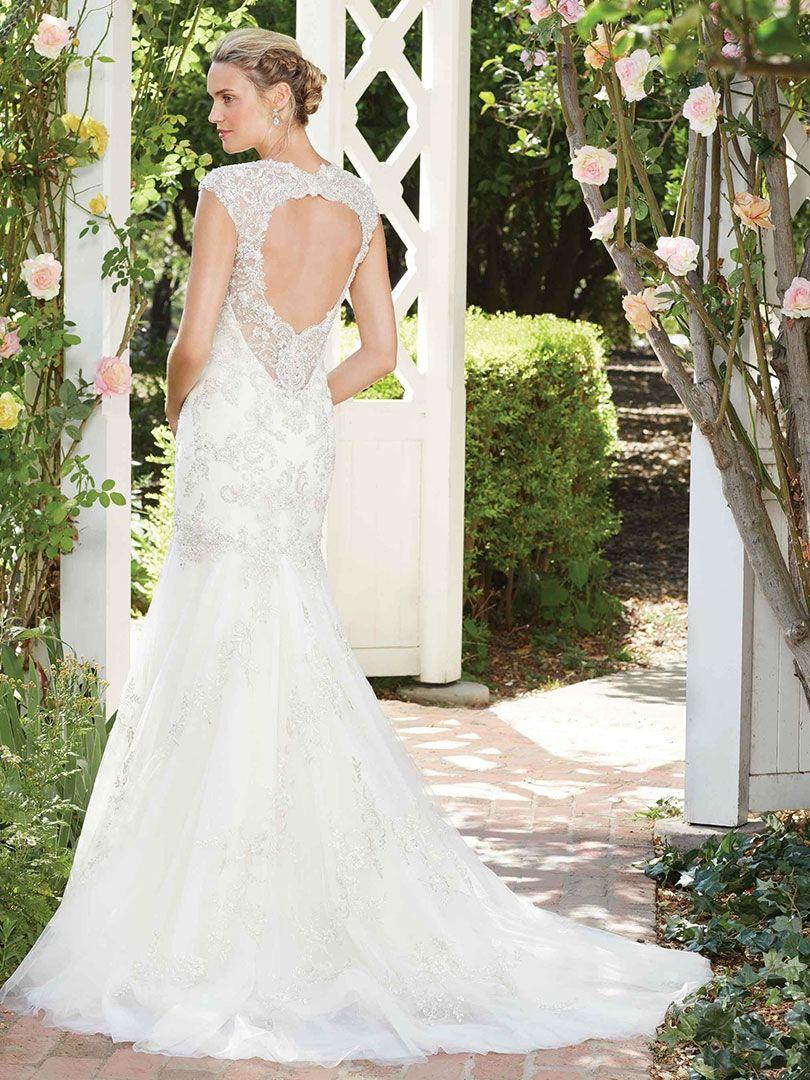 Keyhole Back Wedding Dress   Heavily Beaded | Style 2277 Hibiscus | The White  Closet Bridal