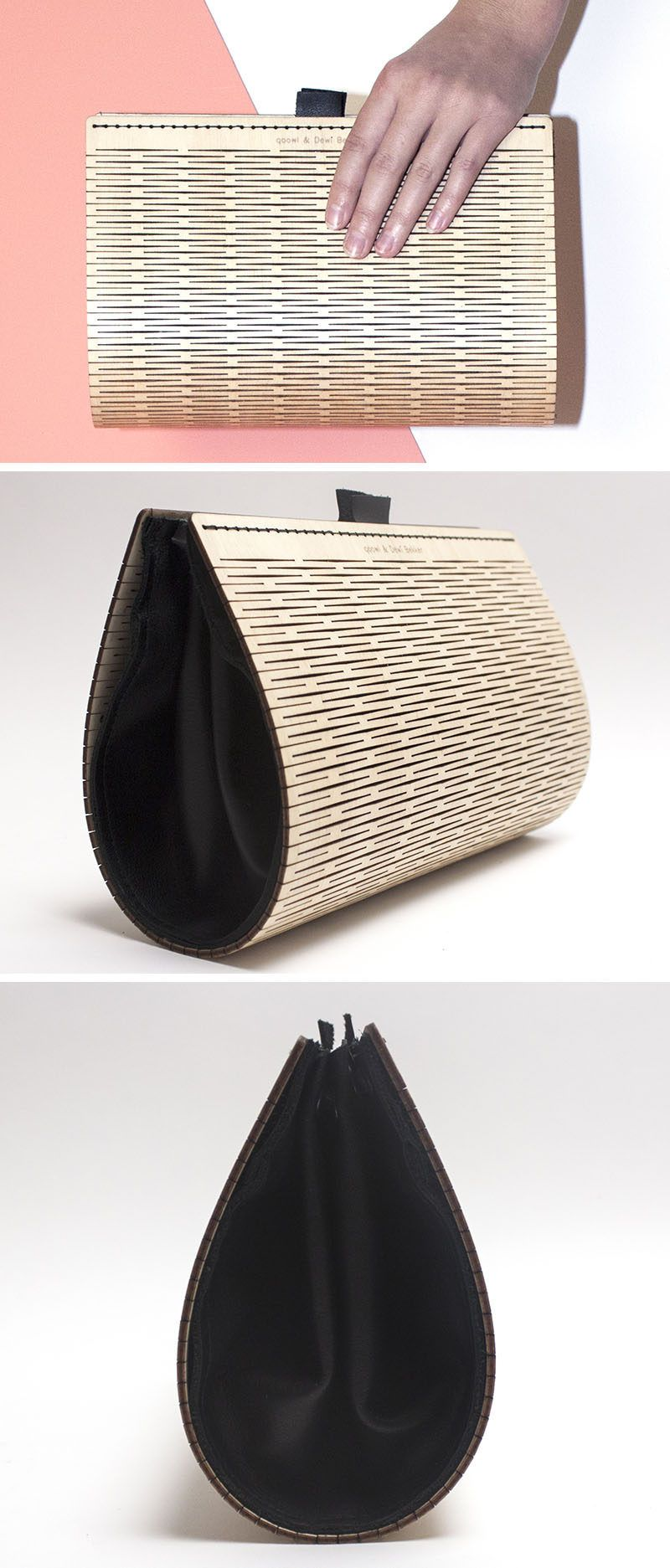 This Simple And Stylish Clutch Is Made From Wood And Leather  # Foxy Muebles Encastrables