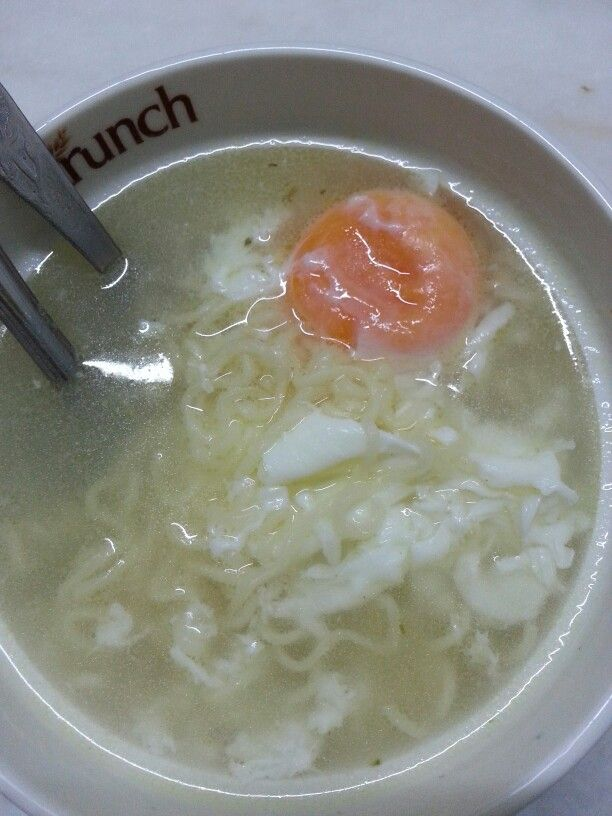 Instant noodles with egg