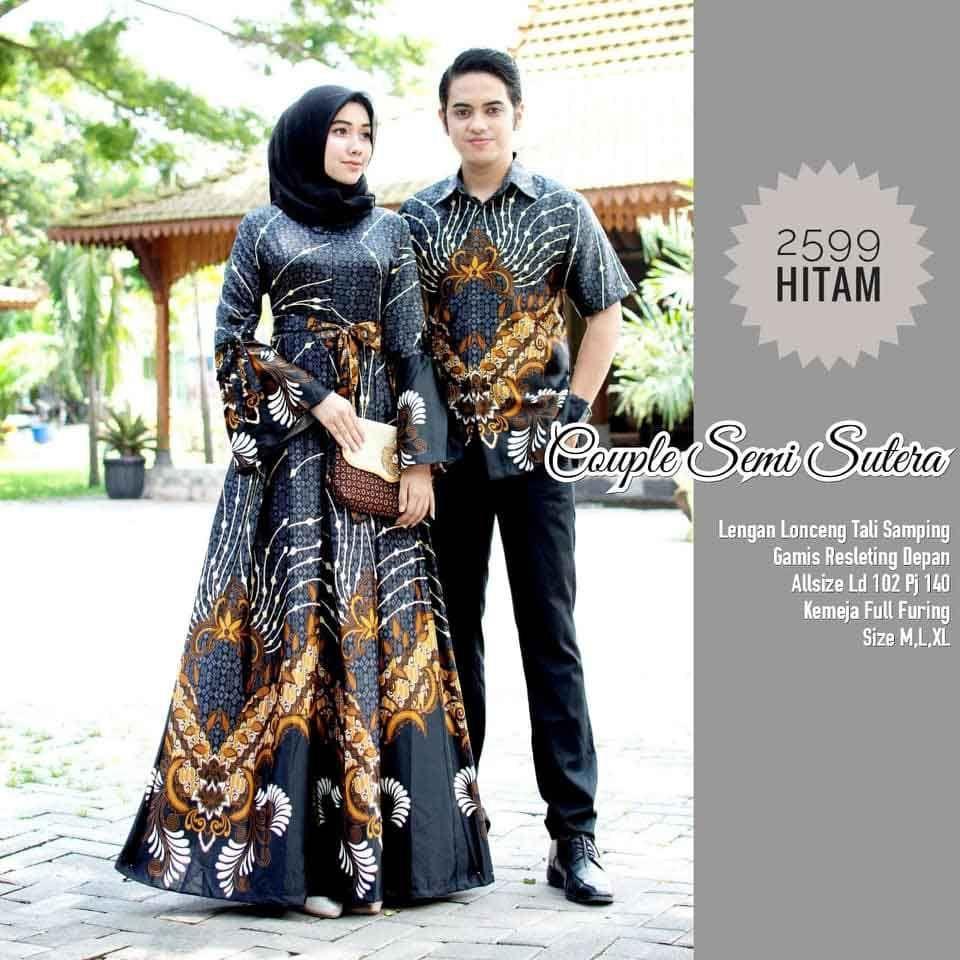 Model Baju Batik Couple Gamis Kode 2599 Model, Wanita