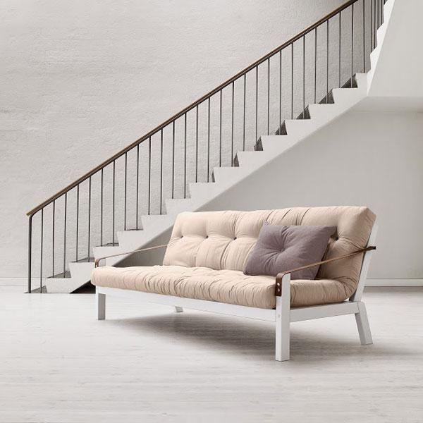 Sofá cama Poetry marrón | Futones, Camas y Sofa cama comodo