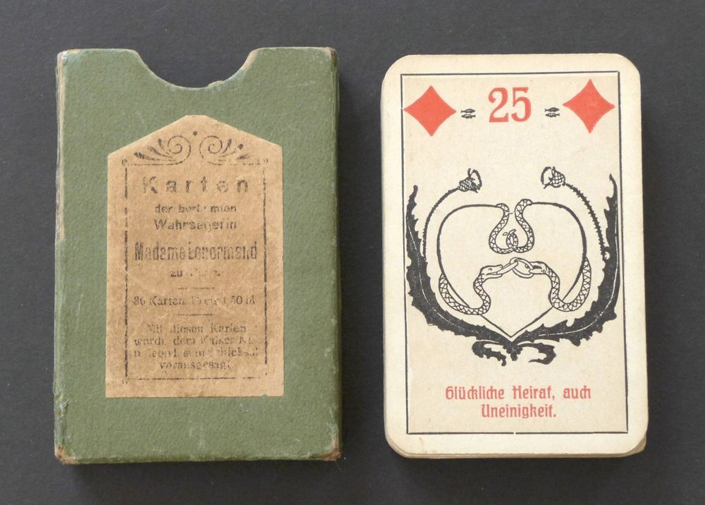 Antique 1930's Lenormand Fortune Telling Oracle Cards Deck Vtg Germany…