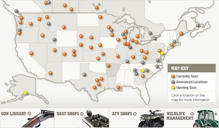 cabela's store locations | By-State Store Listing | Carpet ... on urban outfitters map, kmart map, nordstrom map, old navy map, meijer map, target map, cvs map, gander mountain map, barnes and noble map, walmart map, toys r us map, sams club map, menards map, coldwater creek map, indians in washington location map, guitar center map,