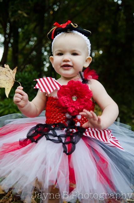 Pirate Tutu Halloween Costume baby toddler girls kids by .BlissyCouture.net  sc 1 st  Pinterest & Pirate Tutu Halloween Costume baby toddler girls kids by www ...