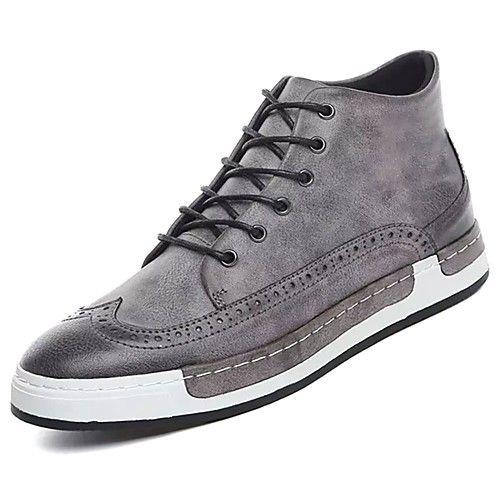 Hombre Zapatos PU Primavera Confort Oxfords Negro HXdNa6