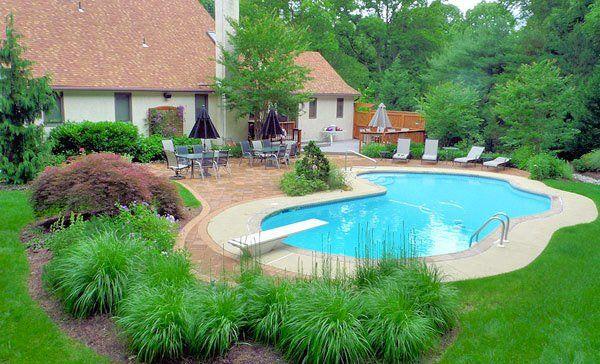 15 Pool Landscape Design Ideas   Pinterest   Landscape designs ...
