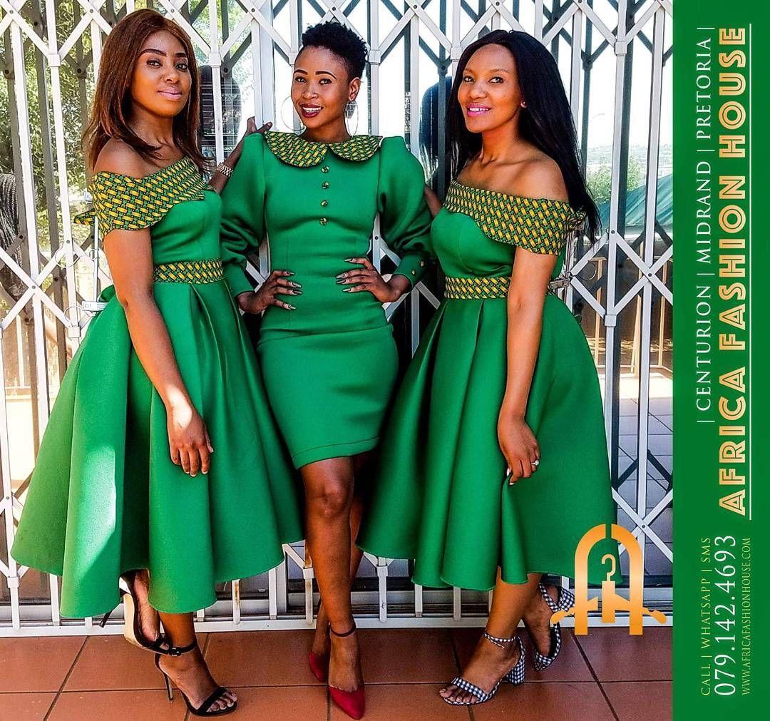 #Bridesmaids #ShweShwe #AfricanPrint #AfricaFashionHouse