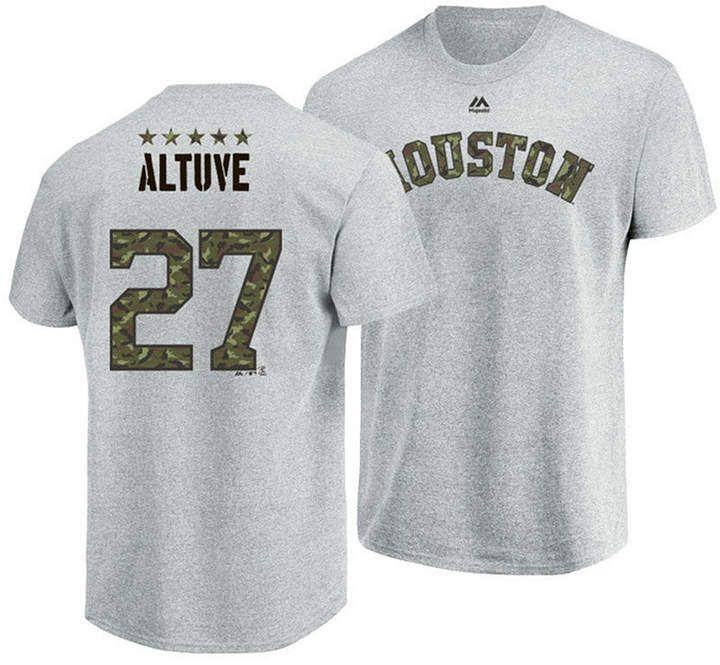 c6a9e5175964d Men s Jose Altuve Houston Astros Camo Player T-Shirt  apos Men Majestic