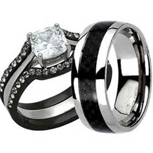 Harley Davidson Wedding Rings.Harley Davidson Black Titanium Wedding Ring Set Rings Titanium