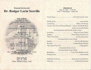 Funeral Order Of Service Outline  Funeral Programs The Memorial
