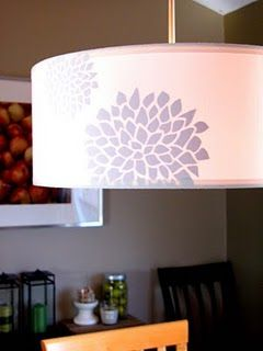 Vinyl decals added to the inside of pendant shade
