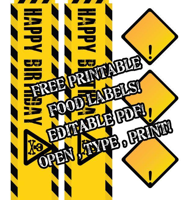 Free Printable Construction Theme Birthday Party