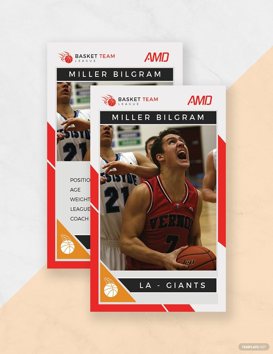 Basketball Team Trading Card Template Free Pdf Word Psd Apple Pages Illustrator Publisher Trading Card Template Football Trading Cards Cards