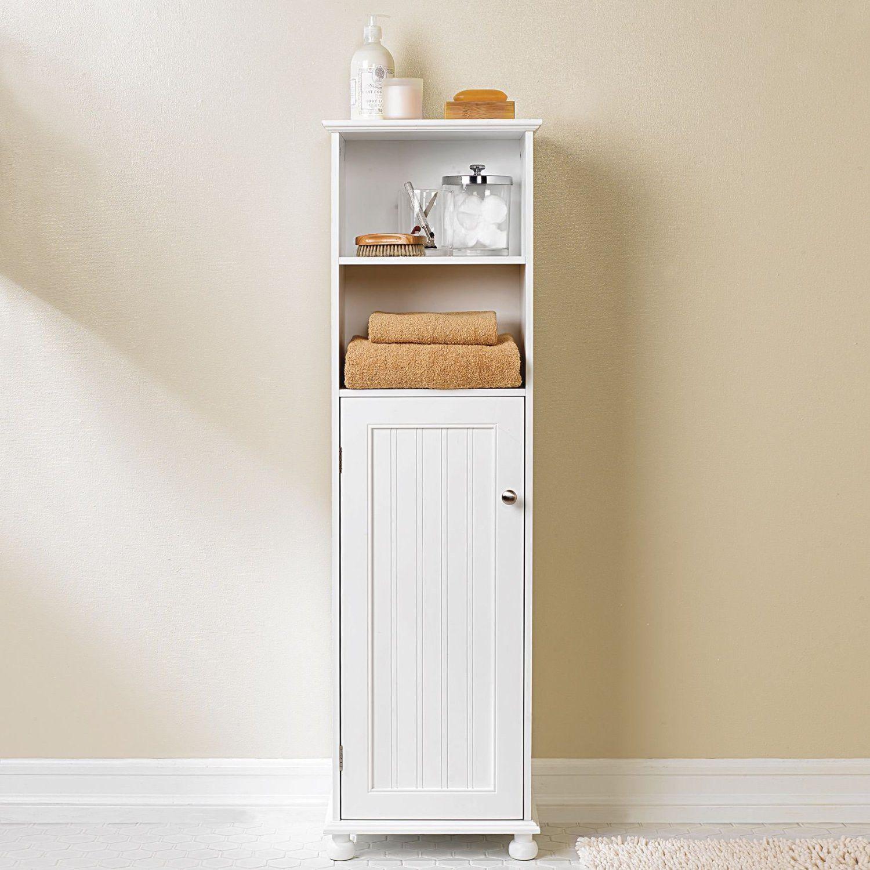 99+ White Wood Free Standing Bathroom Storage Unit