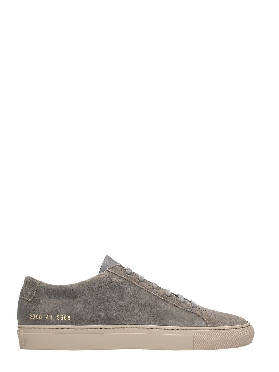 grey Original Achilles Suede Sneakers Common Projects 5ZJAG9jDkU