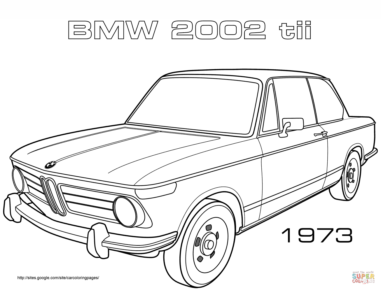 Ausmalbilder Autos Bmw : 1973 Bmw 2002 Tii Coloring Page Png 1306 995 Drawings Sketches